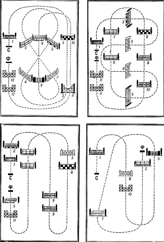 Конкур схемы маршруты